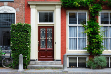 Door And Window Of An Old House In Netherlands