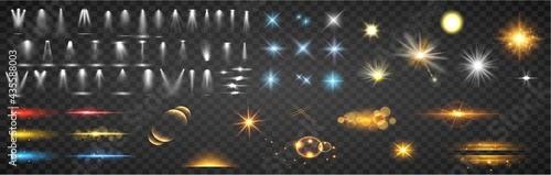 Fotografie, Obraz Set of magic light effects