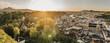 Leinwandbild Motiv Sonnenuntergang in Salzburg