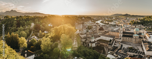 Fotografie, Obraz Sonnenuntergang in Salzburg