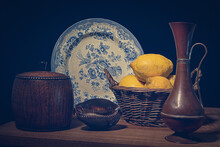 Still Life With Lemons In A Dutch Master Style