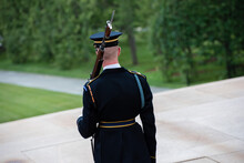 Arlington, VA - June 23, 2017 - Ceremony At The Tomb Of The Unknown Soldier In Washington, DC.
