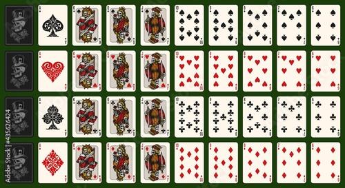 Fotografie, Obraz Playing cards vintage colorful composition