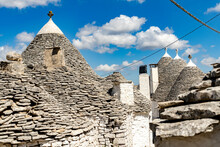 Details Of The Conical Stone Roofs Of Trulli Traditional Houses, Alberobello, UNESCO World Heritage Site, Province Of Bari, Apulia, Italy