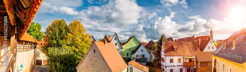 Canvastavla Stadtansicht von der Altstdt Nördlingen in Bayern