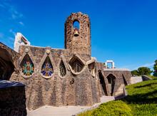 Unfinished Antoni Gaudi Church, UNESCO World Heritage Site, Colonia Guell, Catalonia