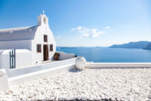 Traditional Greek Architecture In Oia, Santorini (Thira), Cyclades, Greek Islands, Greece