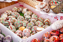 Traditional Painted Easter Eggs, Transylvania, Romania