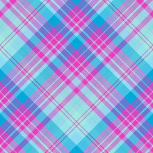 Seamless Pattern In Neon Colors For Plaid, Fabric, Textile, Clothes, Tablecloth And Other Things. Vector Image. 2