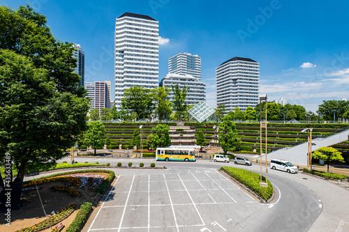 Photo 初夏の埼玉県川口市の川口駅前の風景 5月