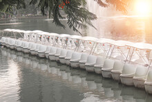 White Swan Pedal Paddle Treadle Boats