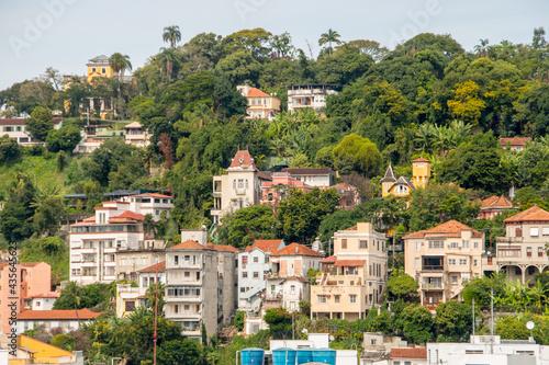 Canvas Print neighborhood of santa teresa seen from downtown rio de janeiro in brazil