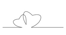Animation Of Self Drawing Continuous Line Of Two Interselect Hearts Togher