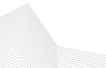 Architecture Geometric Background, Abstract Lines 3d