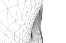 Abstract Architectural Drawing 3d View