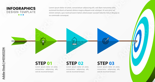 Foto Infographic design template. Creative concept with 3 steps