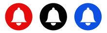 Notification Bell Icon. Incoming Inbox Message. Ringing Bells
