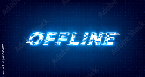Fotografija Glitch offline twitch banner