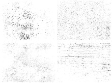 Distressed Overlay Textures Of Rough Surfaces. Grunge Backgroundx. One Color Graphic Resource Set.