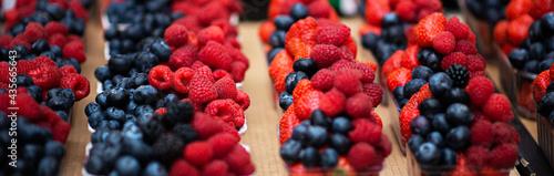Tela Mix berries includes raspberries, strawberry blackberries and blueberries in the street market