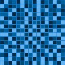 Blue Tile Pattern. Same Squared Tiles Blue Color.