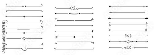 Fotografiet calligraphic ornamental divider collection