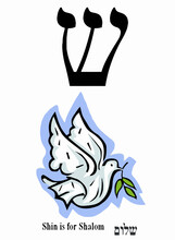 Shin Shalom Peace Illustration