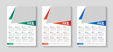 Year 2021 Horizontal Vector Calendar Design Template, Simple, Clean And Elegant Design. Calendar For 2021 On White Background For Branding And Business Advertising. Week Starts On Monday.