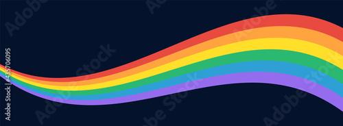 Photo LGBT Pride Flag Wave Background