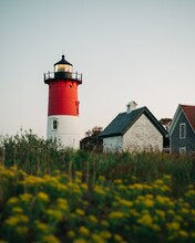 Nauset Lighthouse, In Cape Cod, Massachusetts