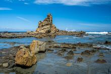 Famous Eagles Nest Rock Formation Near Inverloch, Victoria, Australia