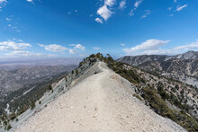 View Of The Backbone Trail Near Mt Baldy Summit In The San Gabriel Mountains Above Southern California.