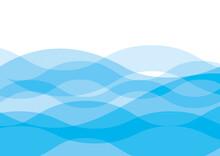 ウェーブの抽象背景 青