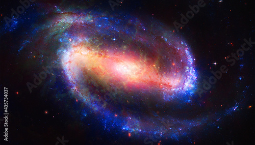 Fotografie, Obraz Space and Galaxy, Barred Spiral Galaxy,Goddard Space