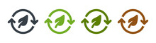 Leaf Recycle Eco Green Symbol. Conservation Icon Vector Illustration.