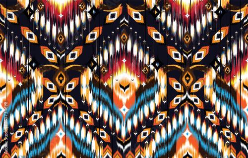 Valokuva Ikat geometric folklore ornament