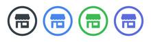 Retail Shop Icon Vector Illustration.