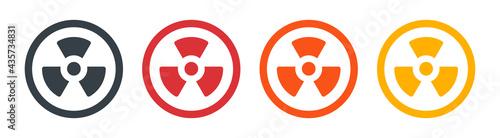 Stampa su Tela Radioactive / radiation symbol icon vector illustration.
