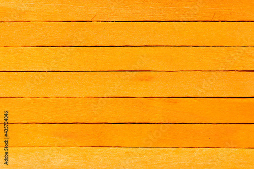 Fotografie, Obraz Orange color wood plank use as textured background, frame, decoration with copy