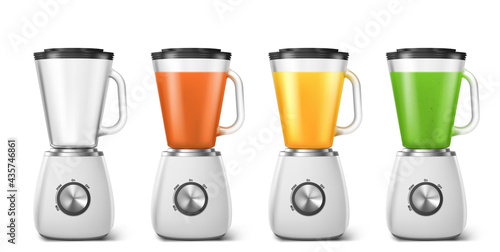 Blender, mixer for juice and smoothie Fototapet