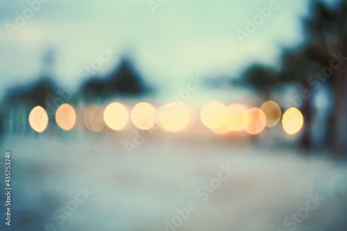 Abstract background beach.Vintage and toned photo.Real bokeh. Fototapet