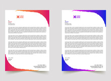 Colorful Business Style Abstract Letterhead Template