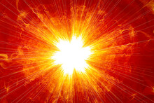 Creative Background With Powerful And Bright Abstract Sun, Colorful Modern Decorative Background