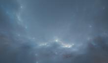 "Fictional Nebula Called ""Ocean Nebula"", Resolution 13020 X 7617 Px"