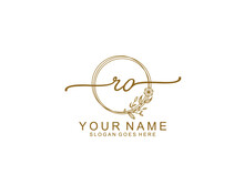 Letter RO Luxury Logo Design Collection