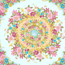 Paisley And All Kinds Of Beautiful Watercolor Flowers