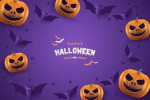 Happy Halloween Party Background.