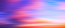 Gorgeous Panorama Twilight Sky And Cloud At Morning Background Motion