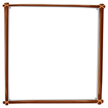 Wooden Frame Square Isolated On White Background