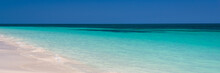 Perfect Tropical Beach And Lagoon, Panoramic Summer Background